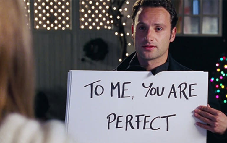 Andrew Lincoln in the most notorious scene from 'Love Actually'. (Credit: Universal)