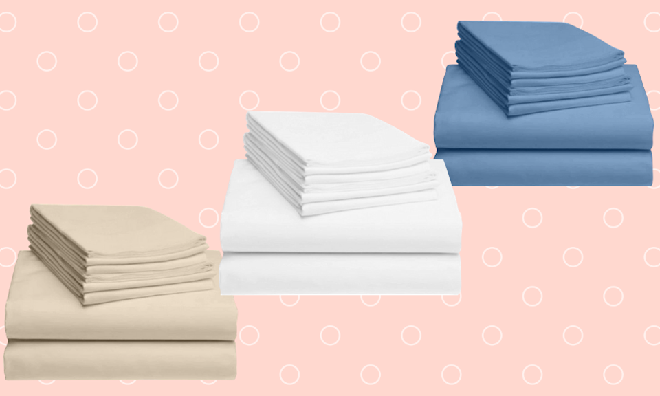 Save more than 50 percent off new sheets. (Photo: Amazon)