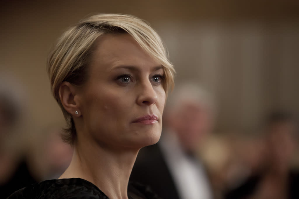 "Robin Wright in the ""House of Cards"" Season 1 episode, ""Chapter 1."""