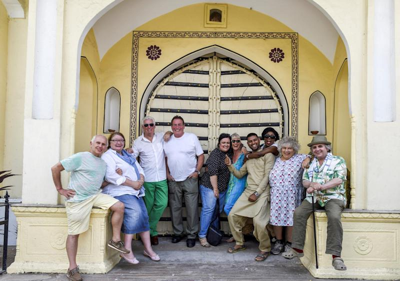 Miriam with the cast of the Real Marigold Hotel