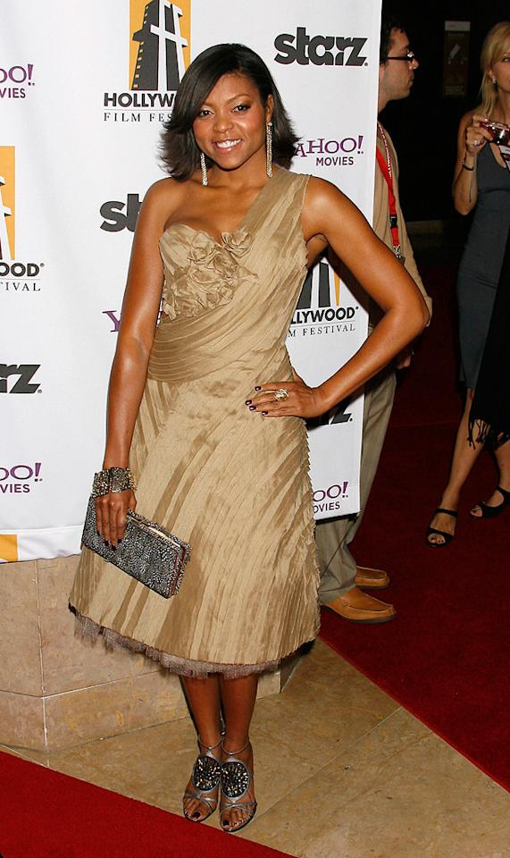 """<a href=""""http://movies.yahoo.com/movie/contributor/1804514499"""">Taraji P. Henson</a> at the 12th Annual Hollywood Film Festival Awards Gala in Beverly Hills - 10/27/2008"""
