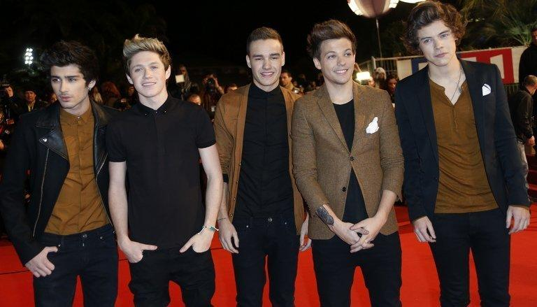 Members of One Direction arrive for the annual NRJ Music Awards in Cannes, France on January 26, 2013