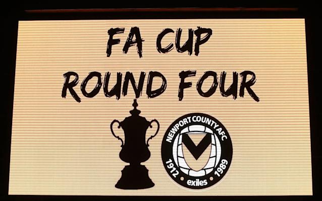 Newport County are through to the FA Cup fourth round for a second successive season - PA