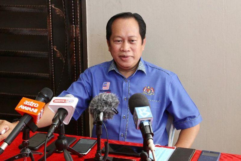Umno sec-gen Ahmad Maslan said the party is postponing its AGM and its division delegates' meeting to next year due to the Covid-19 pandemic. — Picture by Ben Tan