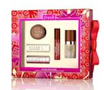 """<p>On Cyber Monday, receive a Hesperides Grapefruit Oval Soap and free standard shipping with any purchase of $40 and up. Cross someone off your holiday shopping list and purchase the Sugar Lip Lovers Set at just $45 to receive your <a href=""""http://Fresh.com"""" rel=""""nofollow noopener"""" target=""""_blank"""" data-ylk=""""slk:gift"""" class=""""link rapid-noclick-resp"""">gift</a> for some pampering of your own. <br></p>"""