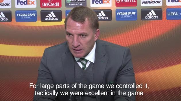 <p>Brendan Rodgers hails Celtic's performance in narrow win over Zenit</p>