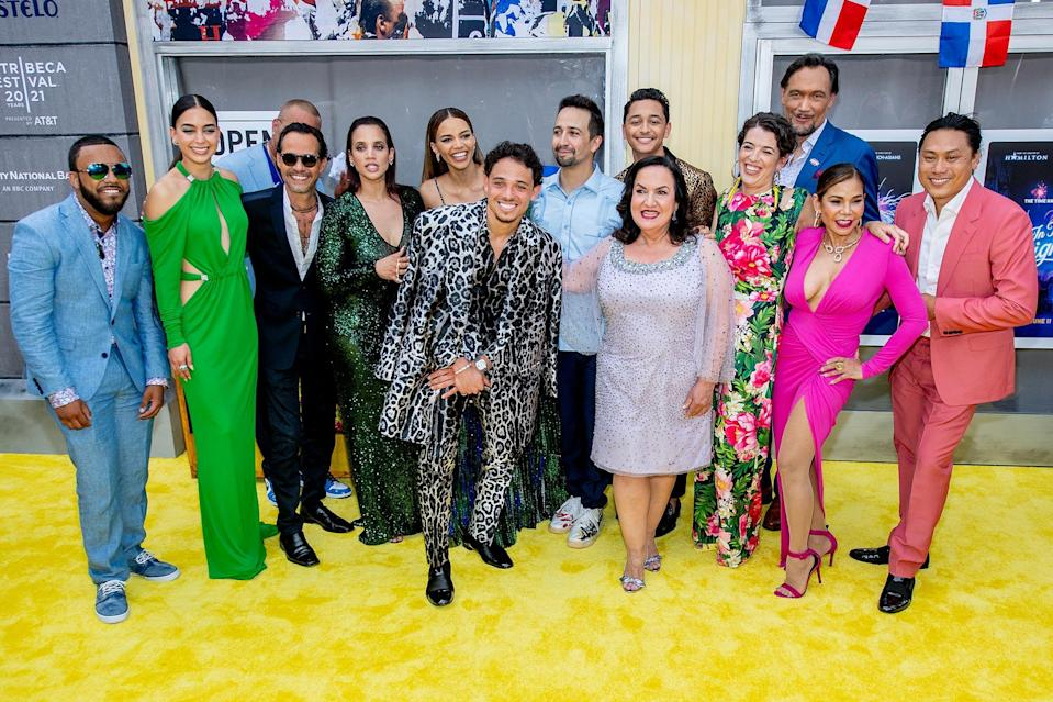 """<p>A day ahead of its release in theaters and on HBO Max, <em><a href=""""https://ew.com/creative-work/in-the-heights-2021-film/"""" rel=""""nofollow noopener"""" target=""""_blank"""" data-ylk=""""slk:In the Heights"""" class=""""link rapid-noclick-resp"""">In the Heights</a> </em>went uptown for an electric premiere as the opening night film of the 20th <a href=""""https://ew.com/tag/tribeca-film-festival/"""" rel=""""nofollow noopener"""" target=""""_blank"""" data-ylk=""""slk:Tribeca Festival"""" class=""""link rapid-noclick-resp"""">Tribeca Festival</a>. Held at the United Palace theater in New York's Washington Heights - the same neighborhood where <a href=""""https://ew.com/tag/lin-manuel-miranda/"""" rel=""""nofollow noopener"""" target=""""_blank"""" data-ylk=""""slk:Lin-Manuel Miranda"""" class=""""link rapid-noclick-resp"""">Lin-Manuel Miranda</a>'s musical-turned-movie takes place - the premiere event brought out Miranda, director Jon M. Chu, and much of the film's cast, screening the film in front of an excited audience that clapped after nearly every musical number. </p> <p>Check out more photos from the premiere's yellow carpet ahead.</p>"""