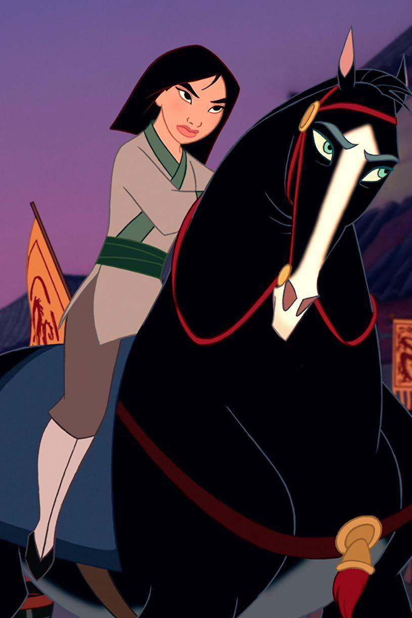 <p>Once Mulan joins the Imperial Army, she swaps her dresses for outfits that are little more practical for fighting off the Hun invasion.</p>