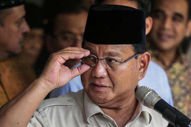 Ex-general Prabowo Subianto lodged an appeal that claimed his loss to incumbent leader Joko Widodo on April 17 was the result of massive electoral fraud (AFP Photo/NAOMI)