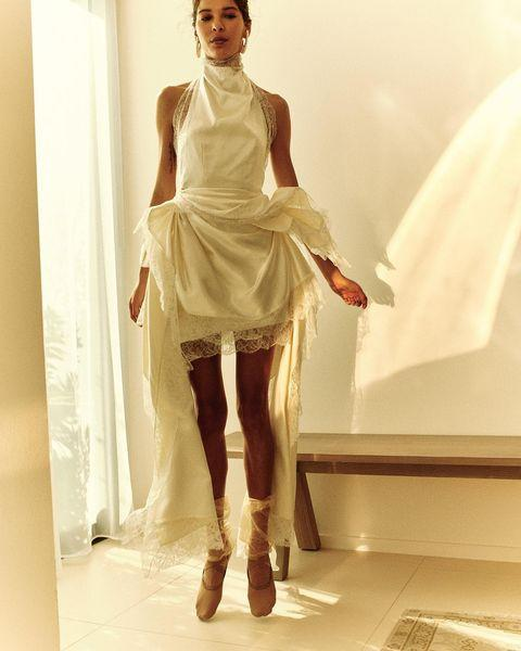 """<p>Although Danielle Frankel is a traditional wedding-dress designer, her designs are anything but traditional. The New York-based brand – which was worn by Zoë Kravitz at her rehearsal dinner – has a very unique take on bridal, one which is perfect for the fashion-forward woman.</p><p><a href=""""https://www.instagram.com/p/CH0yxBYrKL2/?utm_source=ig_embed&utm_campaign=loading"""" rel=""""nofollow noopener"""" target=""""_blank"""" data-ylk=""""slk:See the original post on Instagram"""" class=""""link rapid-noclick-resp"""">See the original post on Instagram</a></p>"""