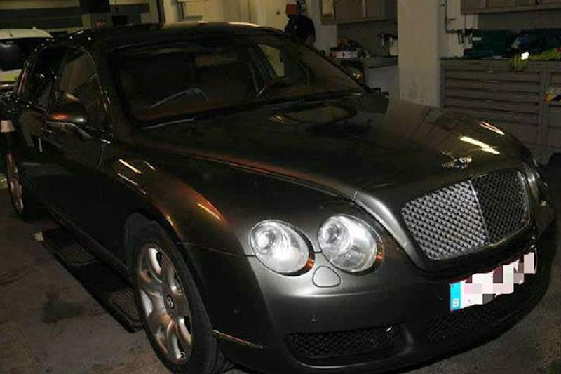 Secret space: the Bentley was used to transport drugs into the UK from Belgium: NCA/PA