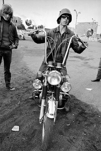 <p>Someone who really likes motorcycles; the next year, it is the name of the great band.</p>
