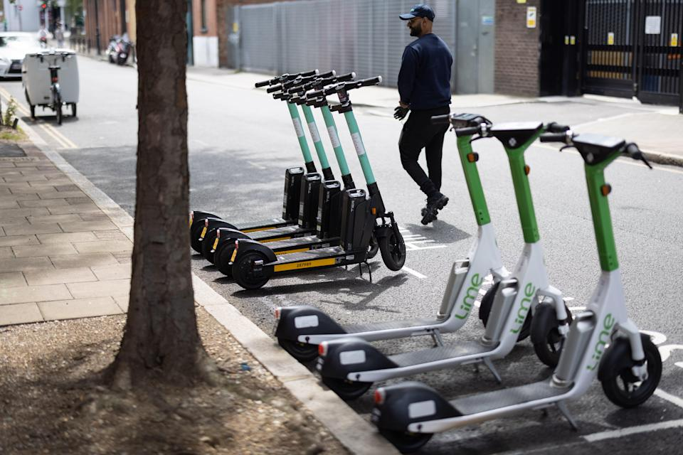 e-scooters in London STOCK IMAGE (Getty Images)