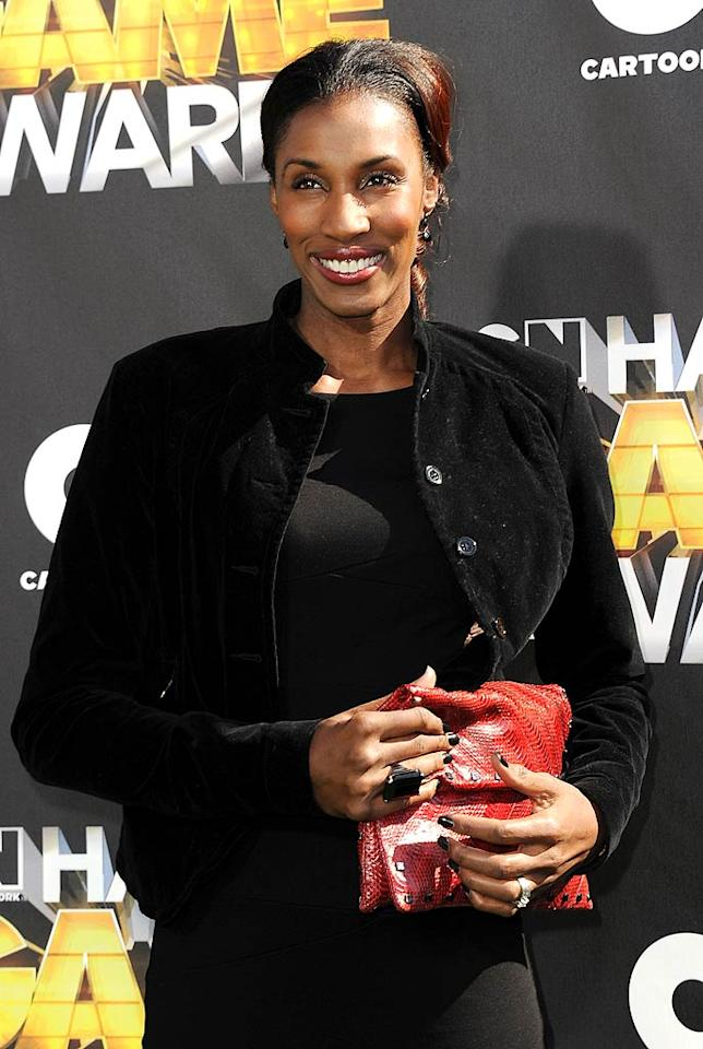 "Former Los Angeles Sparks player Lisa Leslie was all smiles at the fan-voted awards show, which will premiere Friday, February 25 on the Cartoon Network at 7 p.m. ET/PT. Michael Buckner/<a href=""http://www.wireimage.com"" target=""new"">WireImage.com</a> - February 21, 2011"