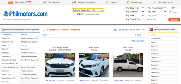 where to buy second hand cars - philkotse