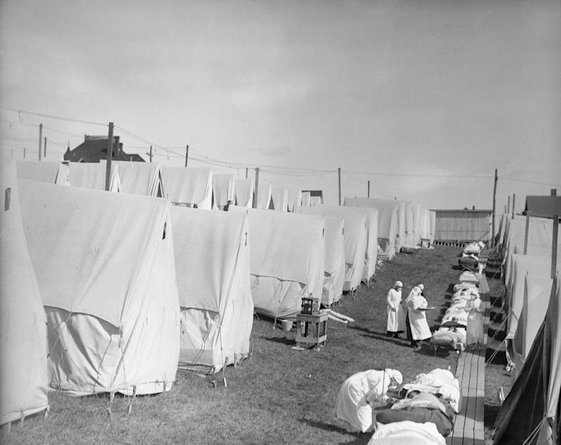 An influenza camp, where patients were given