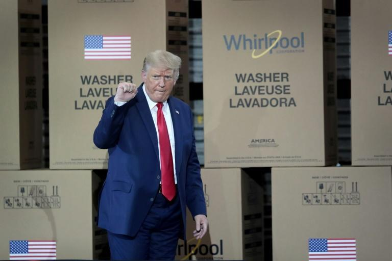 President Donald Trump toured a Whirlpool appliance factory in Clyde, Ohio in August 2020 -- while his trade policies have helped the company to some extent, they also hurt consumers