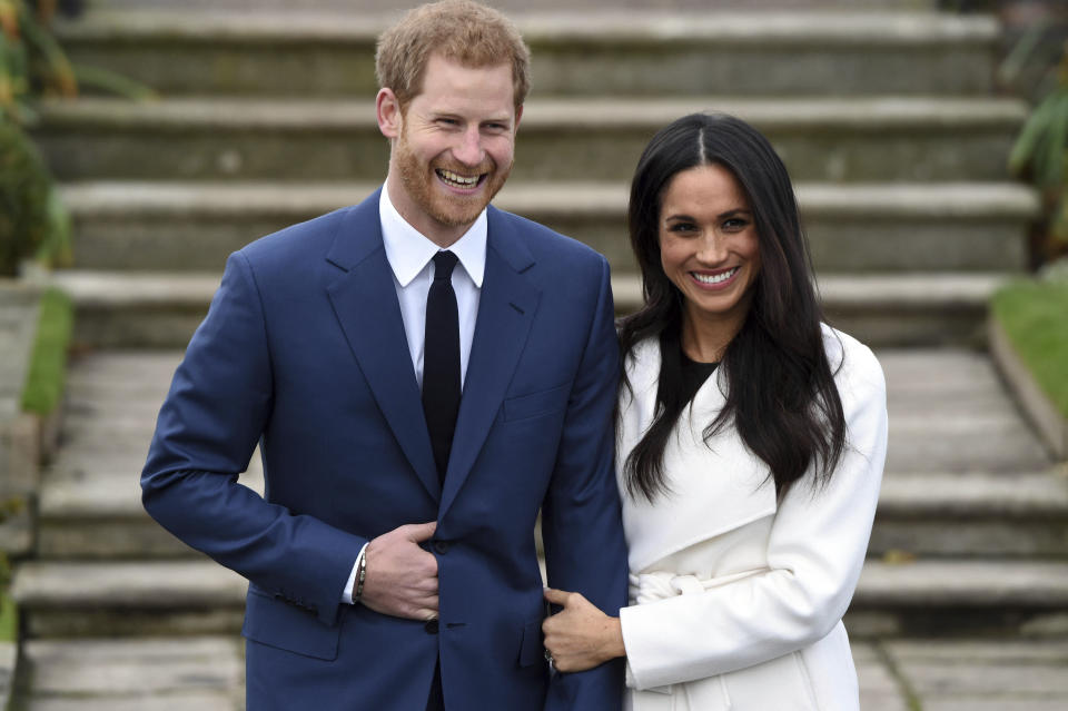 """January 20th 2020 - Buckingham Palace has announced that Prince Harry and Duchess Meghan will no longer use """"royal highness"""" titles and will not receive public money for their royal duties. Additionally, as part of the terms of surrendering their royal responsibilities, Harry and Meghan will repay the $3.1 million cost of taxpayers' money that was spent renovating Frogmore Cottage - their home near Windsor Castle. - January 9th 2020 - Prince Harry The Duke of Sussex and Duchess Meghan of Sussex intend to step back their duties and responsibilities as senior members of the British Royal Family. - File Photo by: zz/KGC-375/STAR MAX/IPx 2017 11/27/17 His Royal Highness Prince Harry Of Wales and Ms. Meghan Markle are engaged to be married. The wedding will take place in Spring 2018. The couple became engaged in London earlier this month. Prince Harry informed The Queen and other close members of his family and also sought and received the blessing of Ms. Markle's parents. (London, England)"""