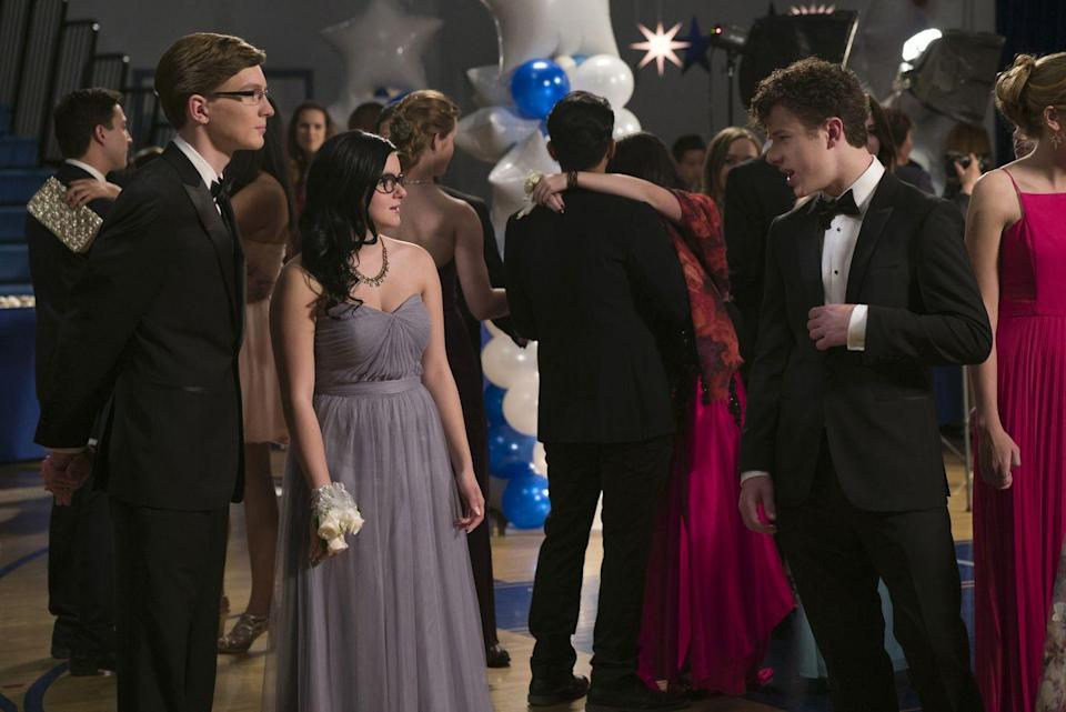 """<p>Alex Dunphy was a few years out of high school when she went with her brother's friend, Reuben, to prom, but she deserves extra credit for the grey sweetheart gown she wore. </p><p><a class=""""link rapid-noclick-resp"""" href=""""https://go.redirectingat.com?id=74968X1596630&url=https%3A%2F%2Fwww.hulu.com%2Fseries%2Fmodern-family-883c414c-34a3-4fcc-b50a-0ad5a184c977&sref=https%3A%2F%2Fwww.redbookmag.com%2Ffashion%2Fg36197518%2Fmost-iconic-prom-dresses-tv-movies%2F"""" rel=""""nofollow noopener"""" target=""""_blank"""" data-ylk=""""slk:STREAM NOW"""">STREAM NOW</a></p>"""