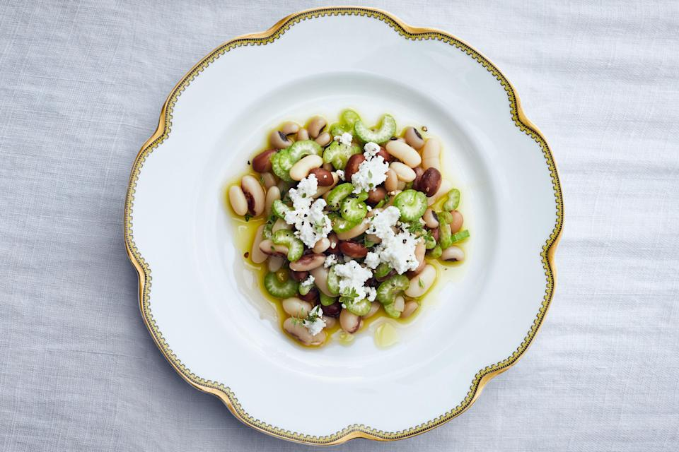 "Celery is great for meal-prepping, since it stays crisp for so long. Mix slices into this herby, tangy marinated bean salad and you've got lunch for the whole week. <a href=""https://www.epicurious.com/recipes/food/views/marinated-beans-with-celery-and-ricotta-salata?mbid=synd_yahoo_rss"" rel=""nofollow noopener"" target=""_blank"" data-ylk=""slk:See recipe."" class=""link rapid-noclick-resp"">See recipe.</a>"