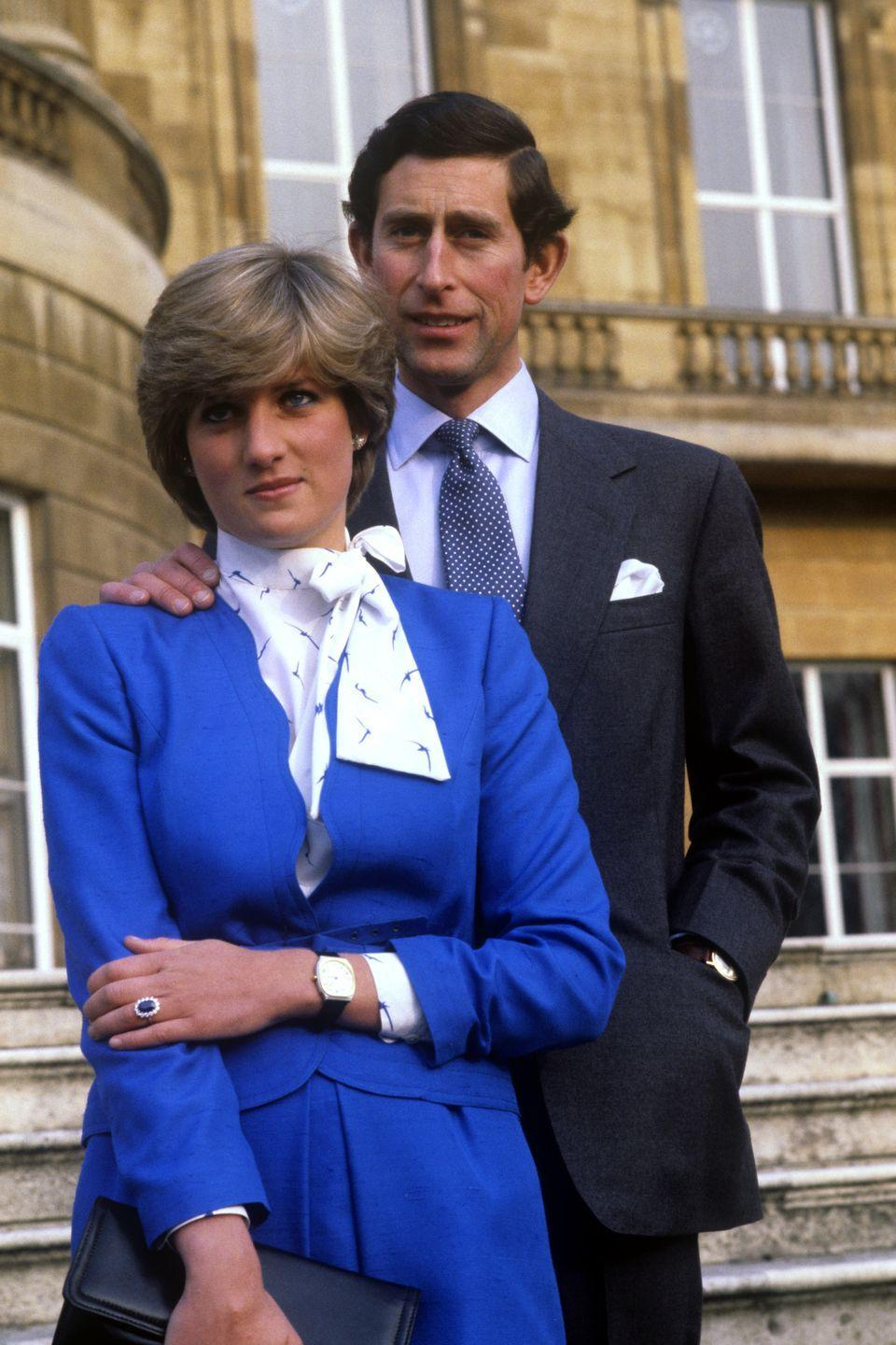 """<p>Just six months after their engagement, the couple married in a famously <a href=""""https://www.townandcountrymag.com/the-scene/weddings/a18205641/princess-diana-prince-charles-wedding/"""" rel=""""nofollow noopener"""" target=""""_blank"""" data-ylk=""""slk:lavish royal wedding at London's St. Paul's Cathedral"""" class=""""link rapid-noclick-resp"""">lavish royal wedding at London's St. Paul's Cathedral</a>. In total, the pair began dating and were married within roughly one year. </p>"""