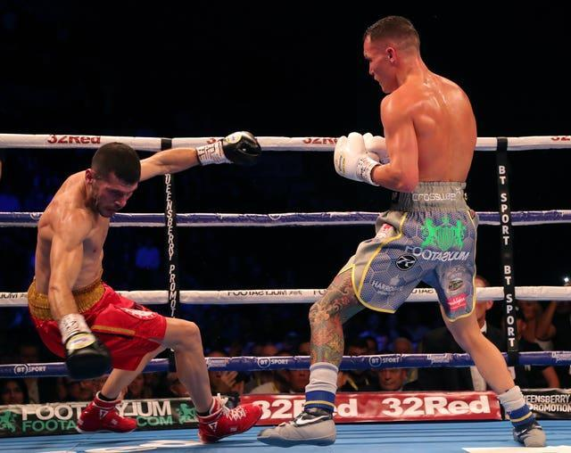 Josh Warrington, right, has not fought since beating Sofiane Takoucht in October 2019 (Richard Sellers/PA)
