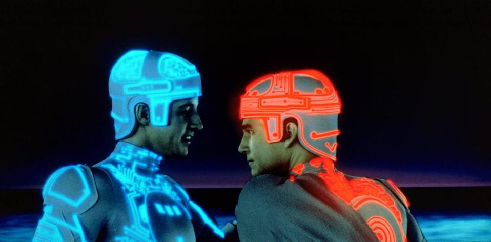 """<p>The iconic 1980s sci-fi movie follows a computer game programmer who gets pulled into the actual world of the computer. As he tries to escape, he interacts with the programs inside the computer, which are a lot more threatening than just strings of code should be.</p> <p><a href=""""http://www.disneyplus.com/movies/tron/4MFq1JeXEe1z"""" class=""""link rapid-noclick-resp"""" rel=""""nofollow noopener"""" target=""""_blank"""" data-ylk=""""slk:Watch Tron on Disney+."""">Watch <strong>Tron</strong> on Disney+.</a></p>"""