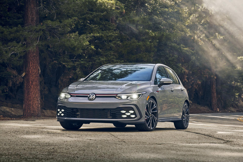 This photo provided by Volkswagen of America shows the 2022 Volkswagen Golf GTI, the newest version of Volkswagen's hatchback. (Volkswagen of America via AP)