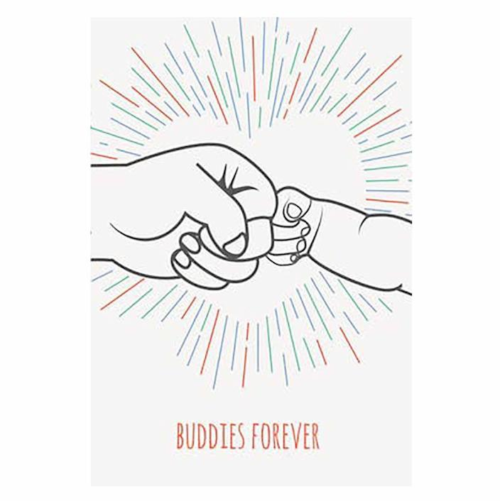 """<p>Remind Dad of the special bond he shares with his kids with this """"buddies forever"""" card. You can even pick between a red, green, or blue design.</p><p><em><strong>Get the printable at <a href=""""https://www.greetingsisland.com/preview/cards/buddies-forever/94-12580"""" rel=""""nofollow noopener"""" target=""""_blank"""" data-ylk=""""slk:Greetings Island"""" class=""""link rapid-noclick-resp"""">Greetings Island</a>.</strong></em></p>"""