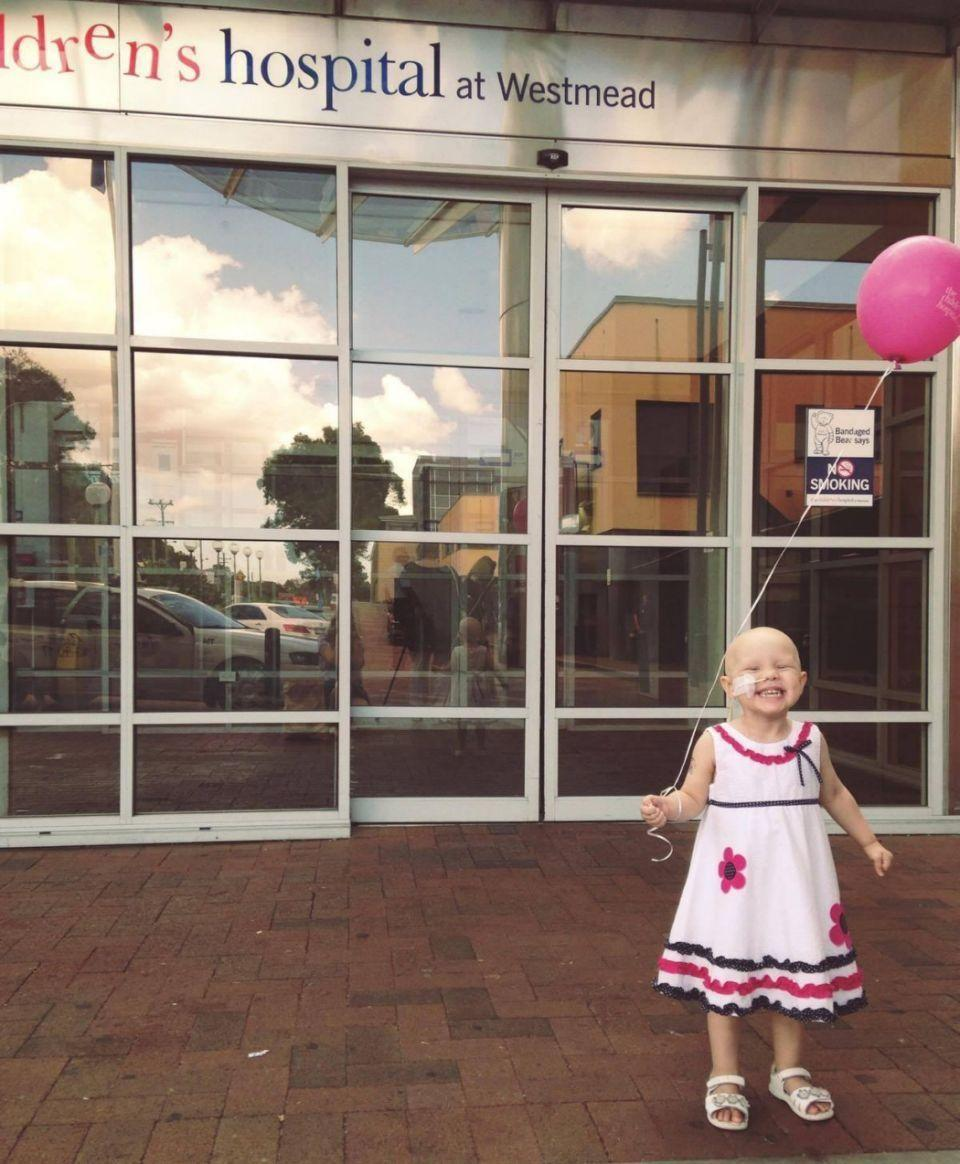 Sarah says Evie never complained about going to hospital. Photo: Supplied