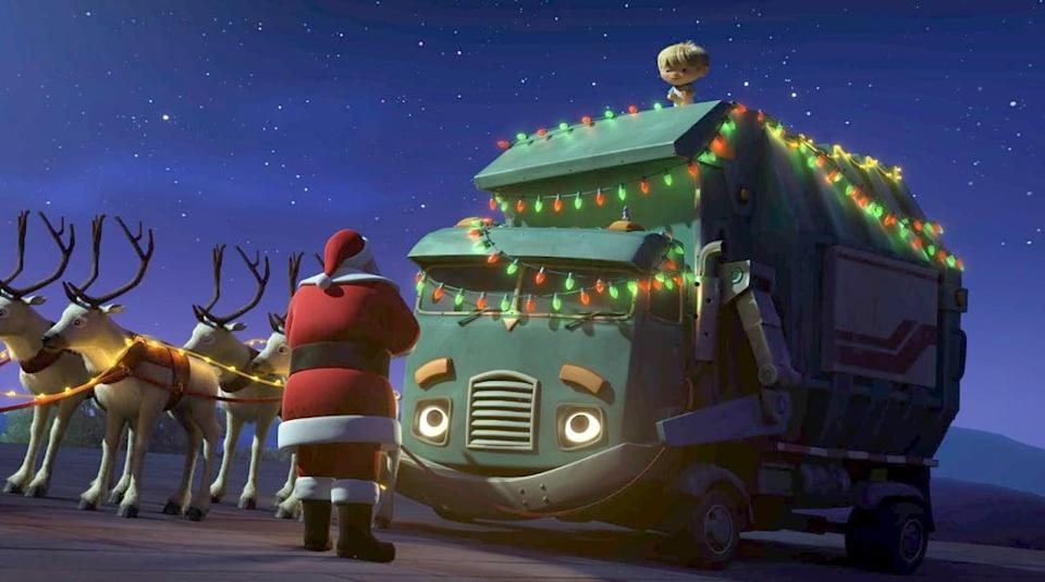 """<p>After Santa lands in a junkyard, he enlists help from some special friends to save Christmas in this animated film.</p> <p>Watch <a href=""""https://www.netflix.com/search?q=A%20Trash%20Truck%20Christmas&amp;jbv=81010807"""" class=""""link rapid-noclick-resp"""" rel=""""nofollow noopener"""" target=""""_blank"""" data-ylk=""""slk:A Trash Truck Christmas""""><strong>A Trash Truck Christmas</strong></a> on Netflix now. </p>"""