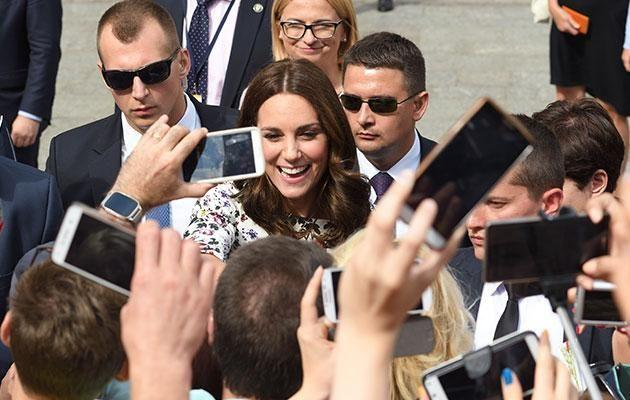 Kate and Wills were mobbed by thousands of well wishers. Photo: Getty