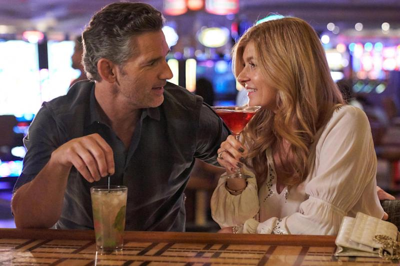DIRTY JOHN, from left: Eric Bana, Connie Britton, 'Approachable Dreams', (Season 1, ep. 101, aired Nov. 25, 2018). photo: Michael Becker / Bravo / Courtesy: Everett Collection