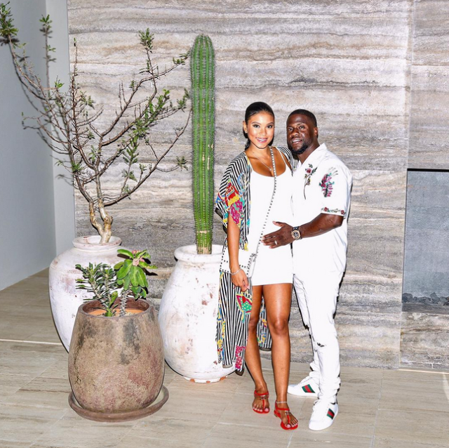 "<p>Following rumors that Hart cheated on his pregnant wife, Eniko Parrish, the comedian whisked Parrish off to Cabo San Lucas, Mexico, where the two were still obviously <a href=""https://www.instagram.com/p/BW8Z0isDb6O/?taken-by=kevinhart4real&hl=en"" rel=""nofollow noopener"" target=""_blank"" data-ylk=""slk:living the good life"" class=""link rapid-noclick-resp"">living the good life</a> — together. (Photo: Kevin Hart via Instagram) </p>"