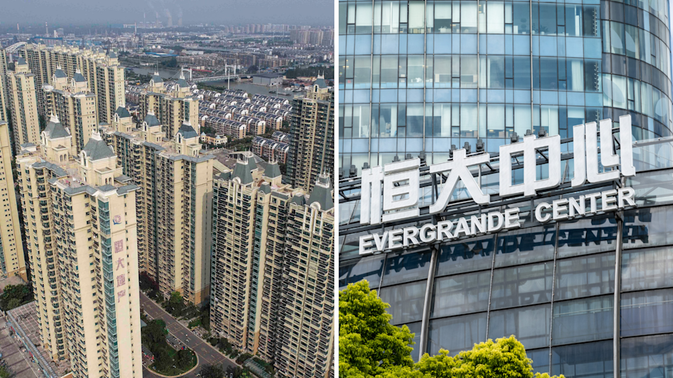 Buildings developed by Chinese company Evergrande