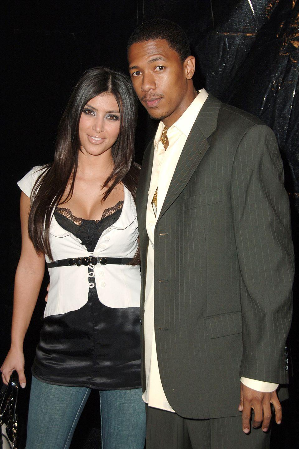"""<p>Lest you forget: <a href=""""https://www.usmagazine.com/celebrity-news/news/nick-cannon-reminds-us-he-dated-kim-kardashian-w462007/"""" rel=""""nofollow noopener"""" target=""""_blank"""" data-ylk=""""slk:Kim Kardashian and Nick Cannon dated"""" class=""""link rapid-noclick-resp"""">Kim Kardashian and Nick Cannon dated</a> back in the early 2000s. The pair allegedly split after Kim's sex tap with Ray J. surfaced. Cannon went on to marry Mariah Carey in 2008, but the scandal affected him so much so that he and his now-ex-wife <a href=""""https://www.marieclaire.com/culture/g19792227/celebrities-that-didnt-have-sex-before-marriage/"""" rel=""""nofollow noopener"""" target=""""_blank"""" data-ylk=""""slk:decided not to have sex before tying the knot"""" class=""""link rapid-noclick-resp"""">decided not to have sex before tying the knot</a>. </p>"""