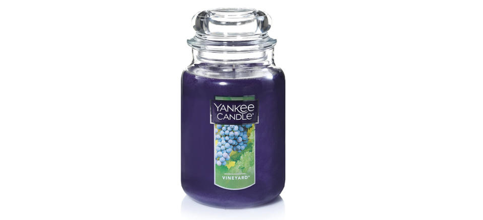 Yankee Candle Scented Jar Candle in Vineyard (Photo: Amazon)