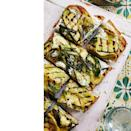 """<p>There's nothing wrong with regular garlic bread and olive oil...but this grilled squash garlic bread may change your mind. Think of it as a healthy pizza.</p><p><a href=""""http://womansday.com/food-recipes/food-drinks/a22469348/grilled-squash-garlic-bread-recipe/"""" rel=""""nofollow noopener"""" target=""""_blank"""" data-ylk=""""slk:Get the recipe for Grilled Squash Garlic Bread"""" class=""""link rapid-noclick-resp""""><strong><em>Get the recipe for Grilled Squash Garlic Bread</em></strong></a></p>"""