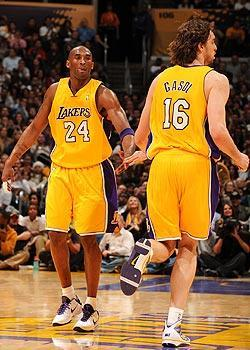 Kobe Bryant and Pau Gasol could play together through 2013-14 after Kobe signs his extension