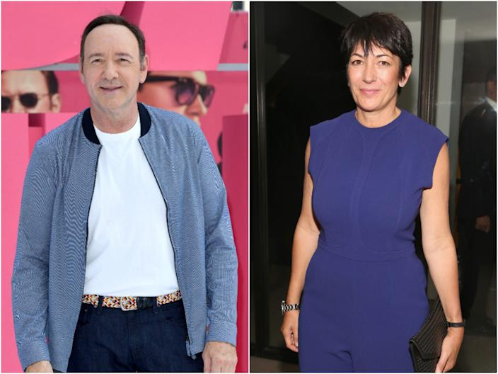 Kevin Spacey and Ghislaine Maxwell.