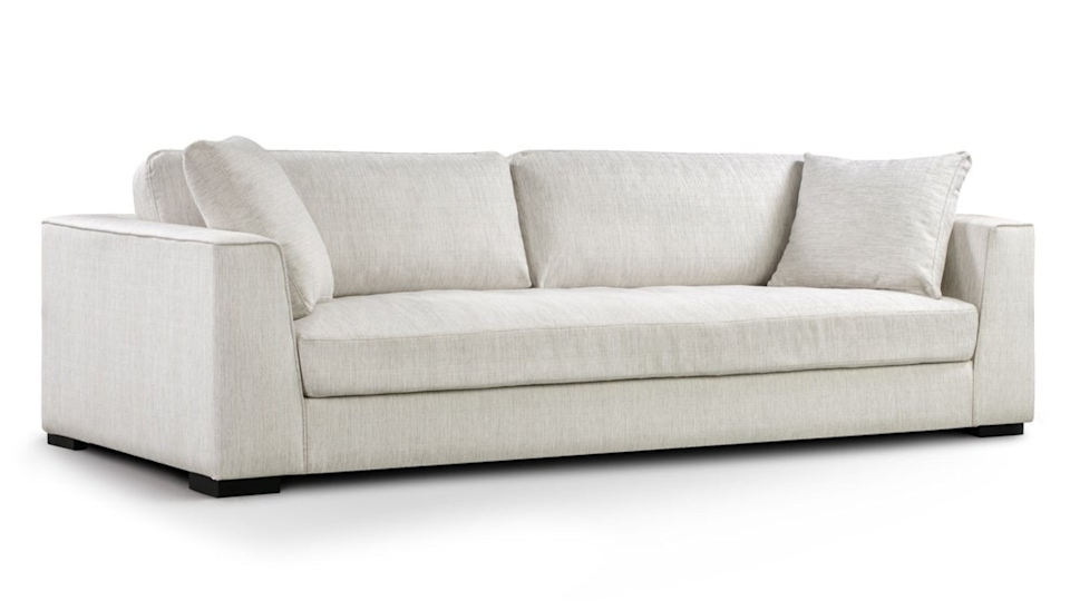 The Capri Sofa comes with two down-filled pillows.