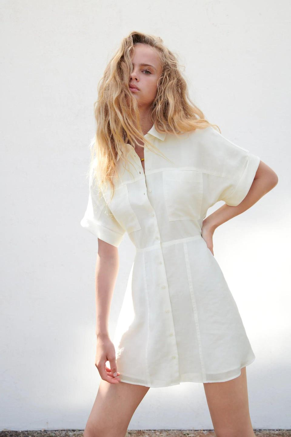 <p>We like shirt dresses because they're a great option when you're short on time. This classic <span>Zara Short Shirt Dress</span> ($46) is one you'll have in your closet for seasons to come.</p>