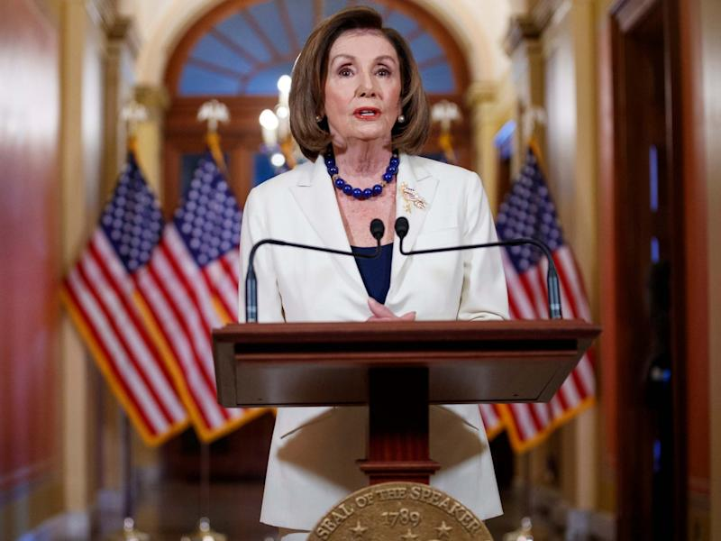 House speaker Nancy Pelosi asks the House to draw up articles of impeachment against President Trump: Shawn Thew/EPA