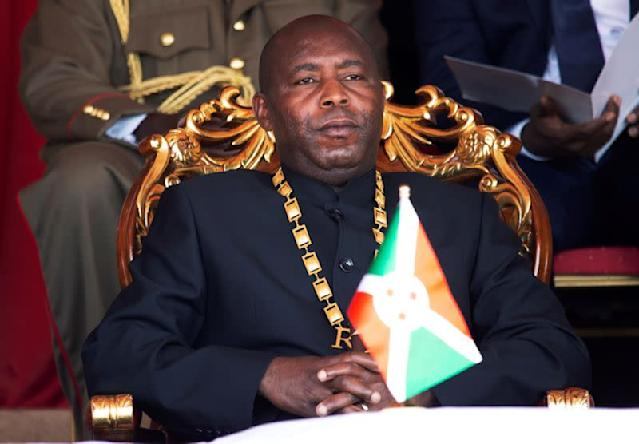 FILE PHOTO: Evariste Ndayishimiye attends the ceremony at which he was inaugurated as Burundi's president