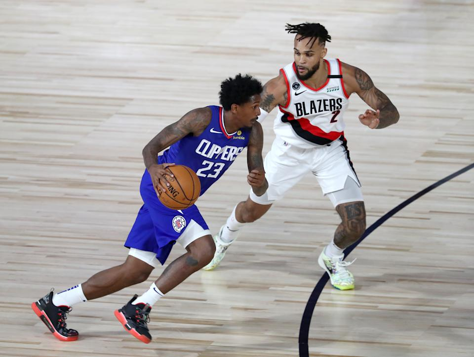 Lou Williams and the Clippers topped the Trail Blazers despite key players sitting on the bench.  (Photo by Kim Klement-Pool/Getty Images)