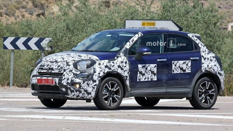 2019 Fiat 500X facelift spy