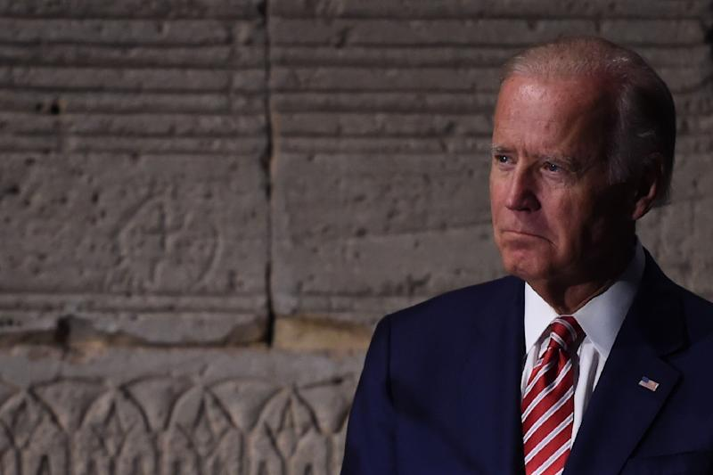 US Vice President Joe Biden waits to speak during a press conference of the 71st session of the UN General Assembly at The Met in New York on September 20, 2016