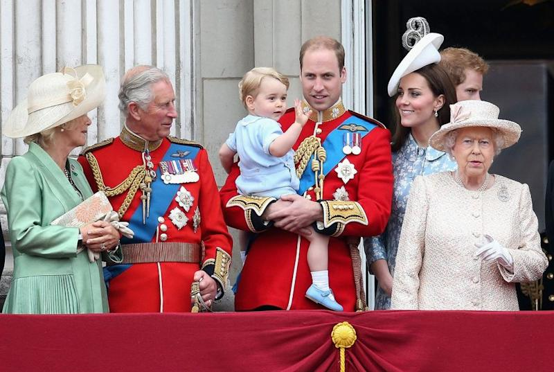 Prince Charles, Prince George, Prince William and Kate Middleton