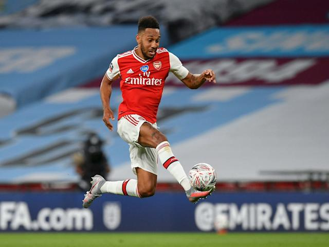 Pierre-Emerick Aubameyang inspired Arsenal in victory over Manchester City but faces an uncertain future: EPA