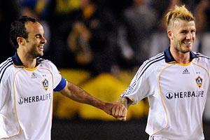 Landon Donovan and David Beckham may not be this tight when the U.S. plays England on June 12